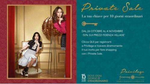 Private Sale, il tuo invito da Fidenza Village
